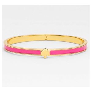 Kate Spade Pink Hinged Bracelet Stacking Bangle